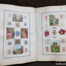 Coleccionismo Cromos troquelados antiguos: ANTIGUO 1874 ÁLBUM CROMOS TROQUELADOS EN RELIEVE.VER FOTOS .BILBAO.. Lote 155344234