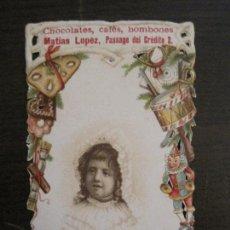 Coleccionismo Cromos troquelados antiguos: CROMO TROQUELADO ANTIGUO-CHOCOLATES MATIAS LOPEZ-MADRID-VER FOTOS-(V-16.153). Lote 156236606