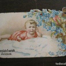 Coleccionismo Cromos troquelados antiguos: CROMO TROQUELADO ANTIGUO-CHOCOLATES EVARISTO JUNCOSA-VER FOTOS-(V-16.154). Lote 156236830