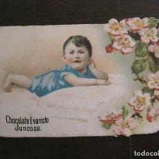 Coleccionismo Cromos troquelados antiguos: CROMO TROQUELADO ANTIGUO-CHOCOLATE EVARISTO JUNCOSA-VER FOTOS-(V-16.156). Lote 156237702
