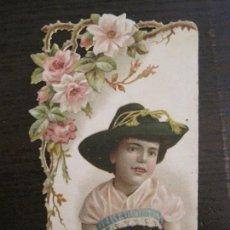 Coleccionismo Cromos troquelados antiguos: CROMO TROQUELADO ANTIGUO-LA FAMILIAR-BARCELONA-VER FOTOS-(V-16.160). Lote 156238934