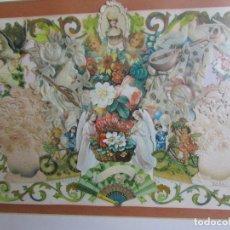 Coleccionismo Cromos troquelados antiguos: ANTIGUO CUADRO HECHO CON MUCHOS CROMOS TROQUELADOS CON MARCO ANTIGUO. Lote 156598766
