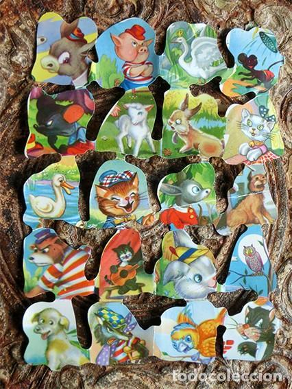 PRECIOSA PLANCHA DE CROMOS TROQUELADOS - FB - ANIMALES - DECORACIÓN - COLORIDOS (Coleccionismo - Cromos y Álbumes - Cromos Troquelados)