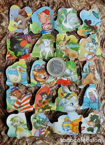 Coleccionismo Cromos troquelados antiguos: PRECIOSA PLANCHA DE CROMOS TROQUELADOS - FB - ANIMALES - DECORACIÓN - COLORIDOS - Foto 2 - 158643018