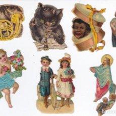 Coleccionismo Cromos troquelados antiguos: LOTE DE 7 CROMOS ANTIGUOS DE PICAR TROQUELADOS. Lote 159476622