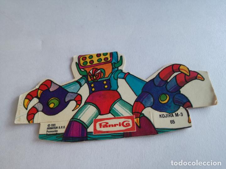 Coleccionismo Cromos troquelados antiguos: CROMO TROQUELADO PANRICO MAZINGER Z KOJIRA M-3 NUMERO 65 DE LOS AÑOS 70 - Foto 2 - 159860662