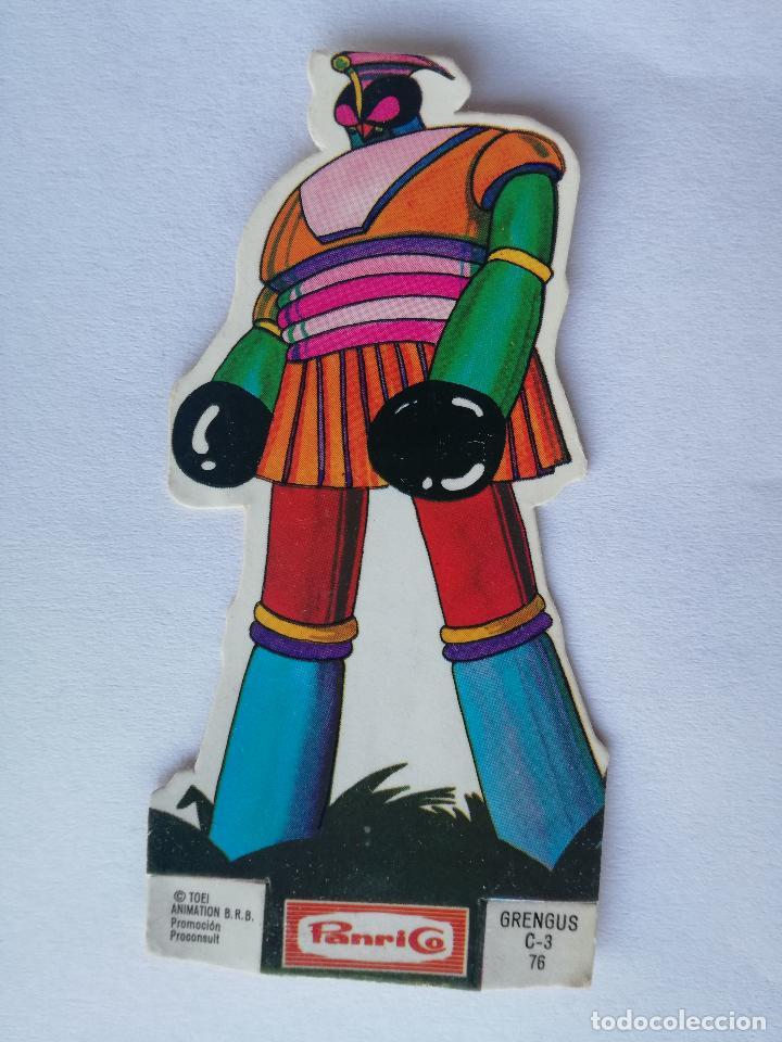 CROMO TROQUELADO PANRICO MAZINGER Z GRENGUS C-3 NUMERO 76 DE LOS AÑOS 70 (Coleccionismo - Cromos y Álbumes - Cromos Troquelados)