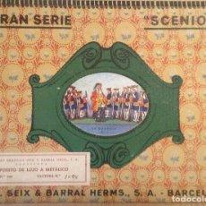 Coleccionismo Cromos troquelados antiguos: ANTIGUA CARPETA SOLDADOS VACIA ** SCENION ** - LA GUARDIA Nº 1 - SEIX & BARRAL CONTIENE CROMOS DE OT. Lote 160166882