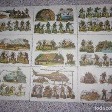 Coleccionismo Cromos troquelados antiguos: LOTE DE 9 FICHAS RECORTABLES BELICOS.. Lote 160570270