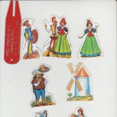 Coleccionismo Cromos troquelados antiguos: LOTE RECORTABLES TIPO CROMOS DON QUIJOTE. Lote 246248245