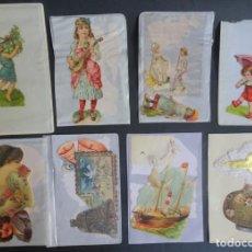 Coleccionismo Cromos troquelados antiguos: LOTE DE 14 CROMOS TROQUELADOS DIFERENTES , VER FOTOS. Lote 165438550