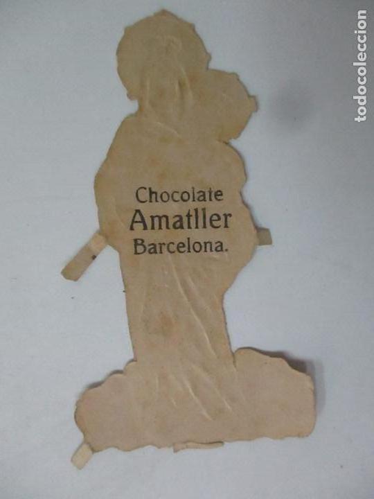 Coleccionismo Cromos troquelados antiguos: Cromo de la Virgen - Cromos Chocolate Amatller, Barcelona - Principios S. XX - Foto 3 - 166746026