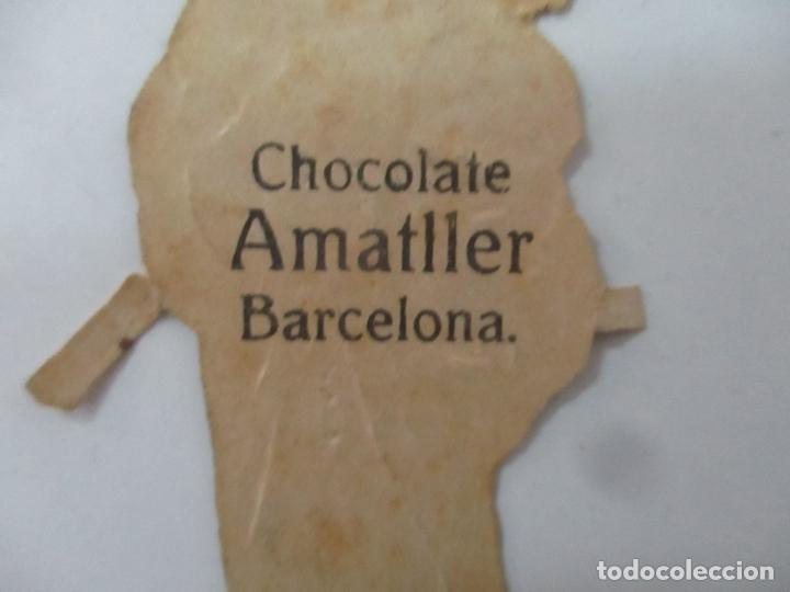 Coleccionismo Cromos troquelados antiguos: Cromo de la Virgen - Cromos Chocolate Amatller, Barcelona - Principios S. XX - Foto 4 - 166746026