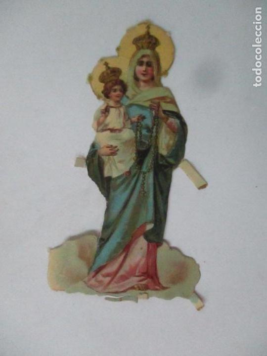 Coleccionismo Cromos troquelados antiguos: Cromo de la Virgen - Cromos Chocolate Amatller, Barcelona - Principios S. XX - Foto 5 - 166746026