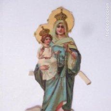 Coleccionismo Cromos troquelados antiguos: CROMO DE LA VIRGEN - CROMOS CHOCOLATE AMATLLER, BARCELONA - PRINCIPIOS S. XX. Lote 166746026