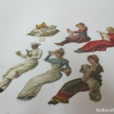 Coleccionismo Cromos troquelados antiguos: 6 CROMOS TROQUELADOS - CHOCOLATE PAITUBI, GRANOLLERS - CROMO Nº 2,3,5,6,7,11. Lote 167779884