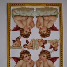 Coleccionismo Cromos troquelados antiguos: GIN. LÁMINA DE CROMOS TROQUELADOS SCRAPBOOK SERIE ORO MLP A127 - ÁNGELES. Lote 244937420