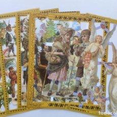 Coleccionismo Cromos troquelados antiguos: GIN. LOTE 6 LÁMINAS DE CROMOS TROQUELADOS SCRAPBOOK CON DEFECTOS. Lote 168255372