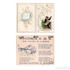 Coleccionismo Cromos troquelados antiguos: PUBLICIDAD AVIONES A.B.E. DE VUELO LIBRE - MADRID. Lote 168286452