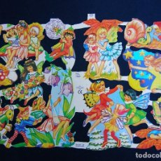 Coleccionismo Cromos troquelados antiguos: LAMINA CROMOS TROQUELADOS MLP- 1469. HADAS. RELIEVE.. Lote 288104918