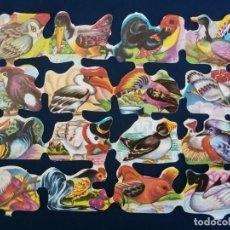 Coleccionismo Cromos troquelados antiguos: LAMINA CROMOS TROQUELADOS ESPAÑOLES FHER.39. AVES DIVERSAS. Lote 195517748