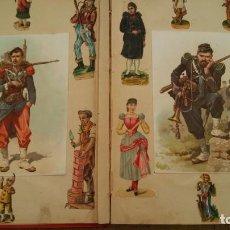 Coleccionismo Cromos troquelados antiguos: HERMOSO ALBUM CROMOS TROQUELADOS, CROMOS Y PUBLICITARIOS SXIX .+PLUS LOTE DE CROMOS TROQUELADOS. Lote 169724072