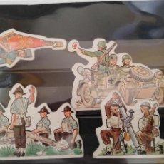 Coleccionismo Cromos troquelados antiguos: PHOSKITOS 4 CROMOS TROQUELADOS SEGUNDA GUERRA MUNDIAL. Lote 169893157