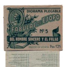 Coleccionismo Cromos troquelados antiguos: DIORAMA DESPLEGABLE , FABULAS DE ESOPO Nº 5 - EL HOMBRE SINCERO Y EL FALSO.. Lote 171661667