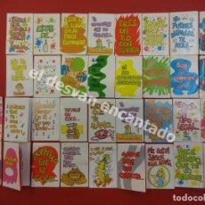 Coleccionismo Cromos troquelados antiguos: MOVI CARDS DE BOLLYCAO. LOTE DE 34 CROMOS. Lote 172059535