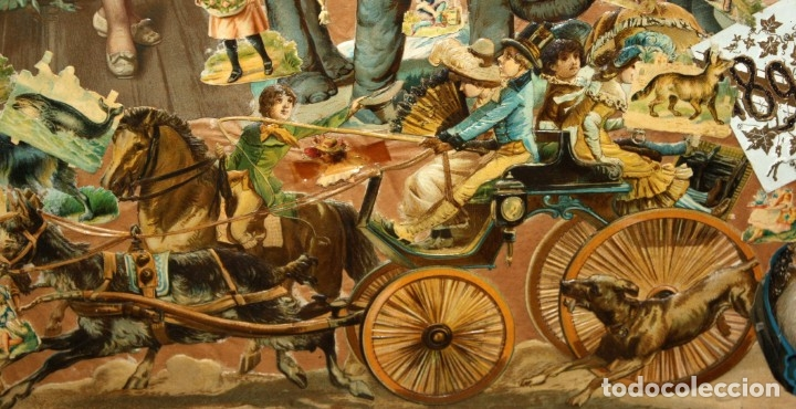 Coleccionismo Cromos troquelados antiguos: PRECIOSO CUADRO CON COMPOSICIÓN DE ANTIGUOS CROMOS TROQUELADOS. CIRCA 1900 - Foto 6 - 172493440