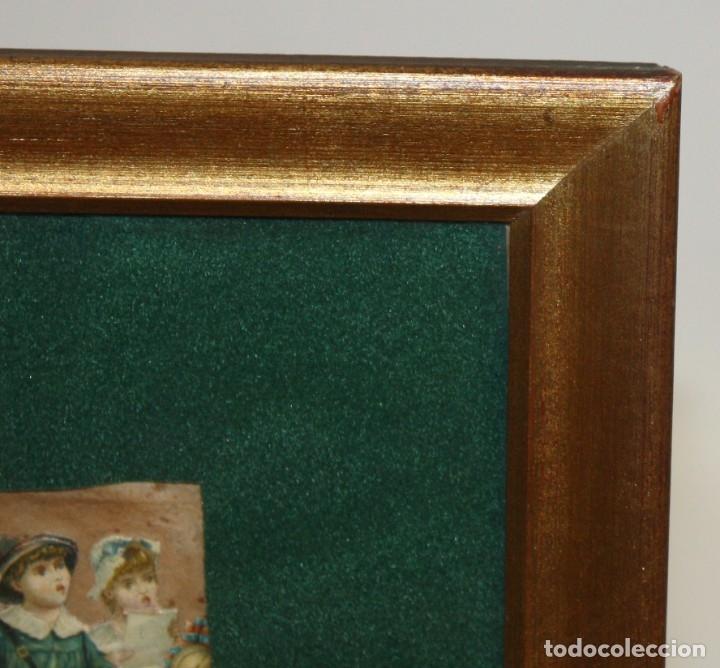 Coleccionismo Cromos troquelados antiguos: PRECIOSO CUADRO CON COMPOSICIÓN DE ANTIGUOS CROMOS TROQUELADOS. CIRCA 1900 - Foto 14 - 172493440