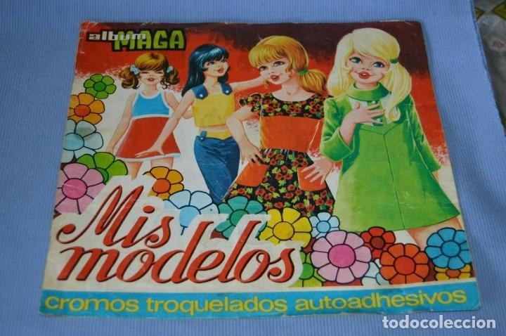 ÁLBUM MIS MODELOS - CROMOS TROQUELADOS AUTOADHESIVOS - ÁBUM DE MAGA 1975 ¡MIRA FOTOS/DETALLES! (Coleccionismo - Cromos y Álbumes - Cromos Troquelados)