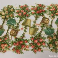 Coleccionismo Cromos troquelados antiguos: LAMINA CROMOS TROQUELADOS FLORES. M & A. RAREZA. Nº 20259. SIGLO XIX. Lote 173789467