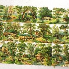 Coleccionismo Cromos troquelados antiguos: LAMINA CROMOS TROQUELADOS. ALEMANIA. RAPHAEL TUCK & SONS. Nº 745. RAREZA. SIGLO XIX. Lote 173790963