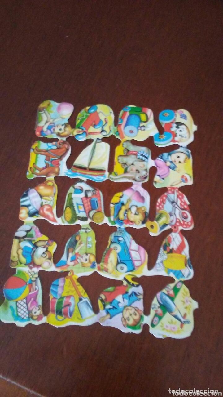HOJA DE CROMOS TROQUELADOS AÑOS 60 (Coleccionismo - Cromos y Álbumes - Cromos Troquelados)