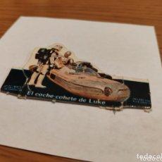 Coleccionismo Cromos troquelados antiguos: ANTIGUO CROMO STAR WARS LA GUERRA DE LAS GALAXIAS PHOSKITOS EL COCHE COHETE DE LUKE SALLENT AÑOS 70. Lote 174269857