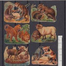 Coleccionismo Cromos troquelados antiguos: LOTE DE CROMOS ANTIGUOS. FINALES SIGLO XIX.. Lote 174337102