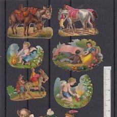 Coleccionismo Cromos troquelados antiguos: LOTE DE CROMOS ANTIGUOS. FINALES SIGLO XIX.. Lote 174337113