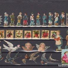 Coleccionismo Cromos troquelados antiguos: LOTE DE CROMOS ANTIGUOS. FINALES SIGLO XIX.. Lote 174337282