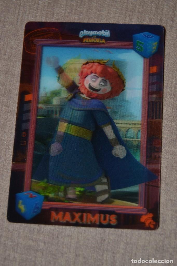 PLAYMOBIL LA PELICULA CARREFOUR 13 MAXIMUS (Coleccionismo - Cromos y Álbumes - Cromos Troquelados)