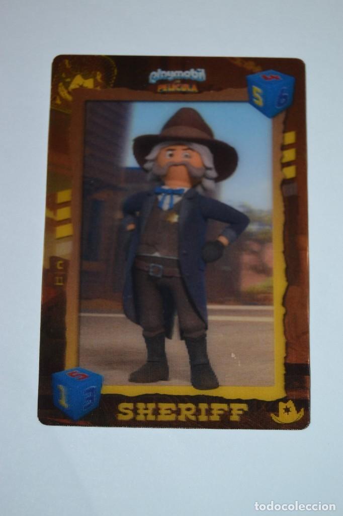 PLAYMOBIL LA PELICULA CARREFOUR 11 SHERIFF C11 (Coleccionismo - Cromos y Álbumes - Cromos Troquelados)