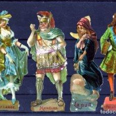 Coleccionismo Cromos troquelados antiguos: CUATRO CROMOS TROQUELADOS SIN PUBLICIDAD .. Lote 180325663