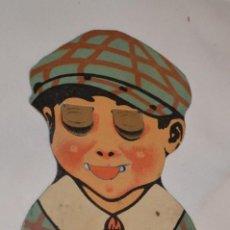 Coleccionismo Cromos troquelados antiguos: ¡MUY RARO! -- ANTIGUO CROMO TROQUELADO, CON CARA NIÑO QUE SACA LA LENGUA Y ABRE LOS OJOS - ¡MIRA!. Lote 183512700