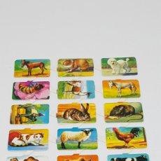 Coleccionismo Cromos troquelados antiguos: LAMINA CROMOS TROQUELADOS ANIMALES SIN MARCA APARENTE. Lote 184858467