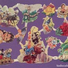 Coleccionismo Cromos troquelados antiguos: LAMINA CROMOS TROQUELADOS DE PALMA O PICAR EVA Nº122 RELIEVE Y BRILLO. Lote 185485595