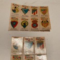 Coleccionismo Cromos troquelados antiguos: SELLOS DEPORTIVOS DE CHICLE BAZOKA. Lote 185994693