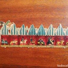 Coleccionismo Cromos troquelados antiguos: CROMO TROQUELADO PARA MONTAR UN TIOVIVO / CARROUSEL / TIO VIVO. Lote 187481588
