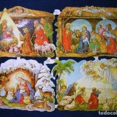Collectionnisme Cartes à collectionner massicotées anciennes: LAMINA CROMOS TROQUELADOS EF- 7202. BELENES RELIEVE Y BRILLO. Lote 268818764