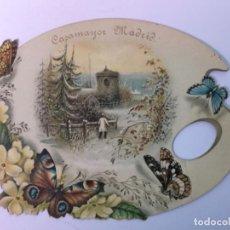 Coleccionismo Cromos troquelados antiguos: CASA MAYOR MADRID CROMO PUBLICITARIO SIGLO XIX. Lote 190817421