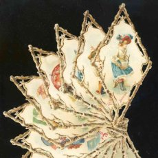 Coleccionismo Cromos troquelados antiguos: COLECCCION COMPLETA DE 12 CROMOS TROQUELADOS: LOS DOCE MESES DEL AÑO. NIÑOS (7 X 13,5 CMS). Lote 192050022
